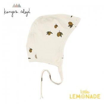 【Konges Sloejd】 レモン柄 ボンネット 56/62cm【新生児/1-3か月】 帽子 LEMON NEW BORN HELMET コンゲススロイド (16608)