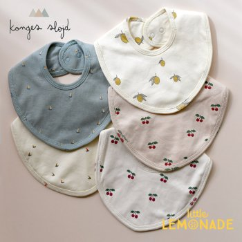 【Konges Sloejd】 スタイ ビブ 1枚【LEMON/CHERRY/BLUSH CHERRY/MILLE MARINE】 コンゲススロイド ベビー (16889)
