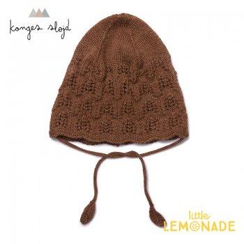 【Konges Sloejd】 SINNA BUNNET ベビー帽子 【6-9か月/12-18か月】 ボンネット ニット帽 コンゲススロイド (KS1608)