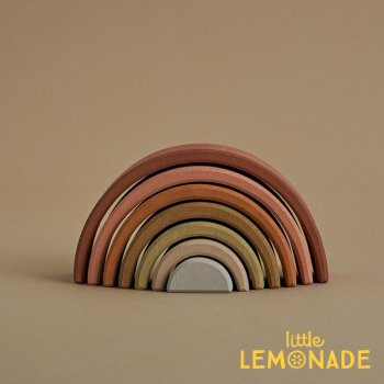 【Raduga Grez】  Earth arch stacker  スモールアーチスタッカー ロシア製 積み木 木製 おもちゃ 虹【Sand Small arch】 RG03014