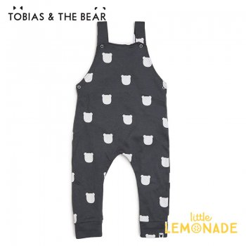 【Tobias & The Bear】 チャコールベアー サロペット 【3-6/6-12/12-18/18-24か月】 Charcoal Bear dungarees (CHBED)