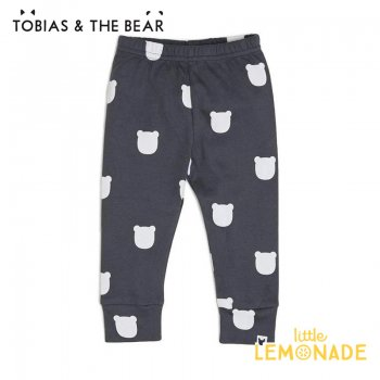 【Tobias & The Bear】 チャコールベアー レギンス 【3-6/6-9/9-12/12-18/18-24か月/2-3歳】   Charcoal Bear leggings  SALE