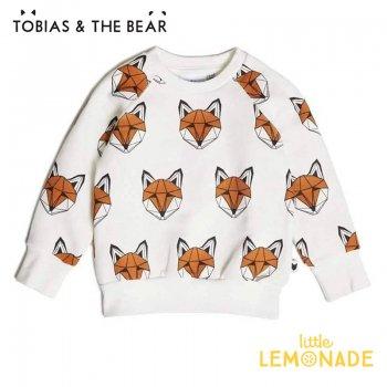 【Tobias & The Bear】 キツネ 長袖スウェット 【18-24か月/2-3歳/3-4歳】 Just Call Me Fox loopback sweatshirt (FOXCS)