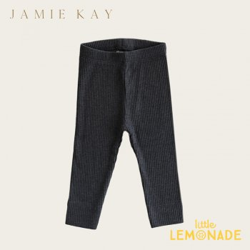 【Jamie Kay】 Organic Essential Leggings - DARK GREYMARLE 【6-12か月/1歳/2歳】 コットンレギンス パンツ