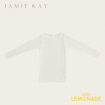 【Jamie Kay】 Essential ORGANIC COTTON L/S TOP - MILK  【1歳/2歳/3歳】 トップス 長袖シャツ 肌着