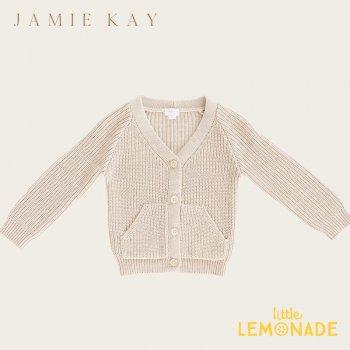 【Jamie Kay】 NOAH CARDIGAN - OATMEAL MARLE 【1歳/2歳/3歳】 カーディガン トップス ジェイミーケイ