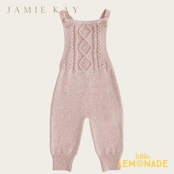 【Jamie Kay】 MIA ONEPIECE - BUBBLEGUM FLECK 【6-12か月/1歳/2歳/3歳】  ニット オーバーオール ジャンプスーツ オールインワン ジェイミーケイ