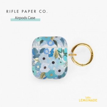 【RIFLE PAPER】 AirPods Case ブルーガーデン CLEAR GARDEN PARTY BLUE  (PAC003)