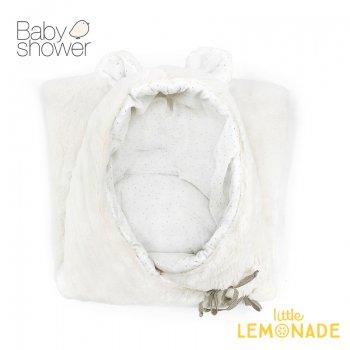 【BABYSHOWER】 ベア ベビーネスト/ホワイト TEDDY BEAR ANGEL NEST ベビープレイマット オーガニックコットン スペイン製 (TEDSNOW)