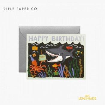 【RIFLE PAPER ライフルペーパー】 バースデーカード /  Simone Birthday(シャークバースデー) (GCB070)