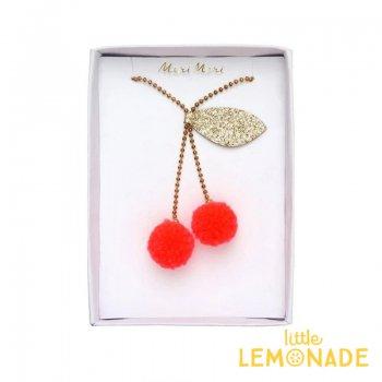 【Meri Meri】 チェリーポンポンネックレス Cherry Pompom Necklace (187216)