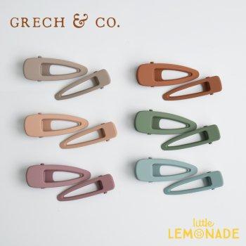 【Grech&co】 マットヘアクリップ2個セット/6色展開 Matte Clips Set (S2MATTE B/C/F/G/H/I)