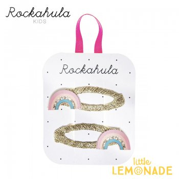 【Rockahula Kids】Dreamy Rainbow Clips-Multi/レインボーヘアクリップ 2個セット(H1413M)