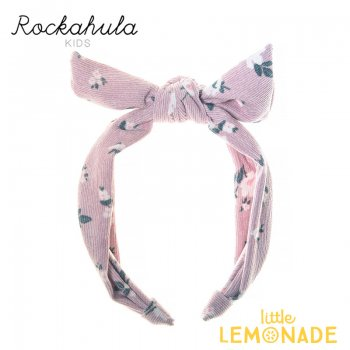 【Rockahula Kids】Florence Tie Head Band-Heather/花柄ピンクリボンヘアバンド(H1425H)