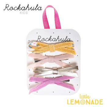 【Rockahula Kids】Florence Skinny Bow Clips-Multi/マルチカラーリボンヘアクリップ 4個セット(H1423M)