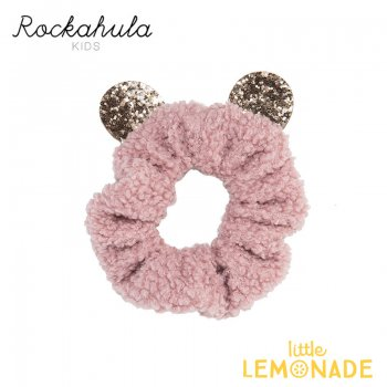 【Rockahula Kids】Billie Bear Scrunchie-Pink/くまのピンクブークレーシュシュ(H1441P)