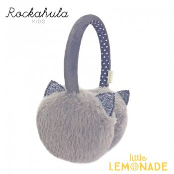 【Rockahula Kids】Clara Cat Earmuffs-Grey/キャットグレーファー耳あて(T1493G)