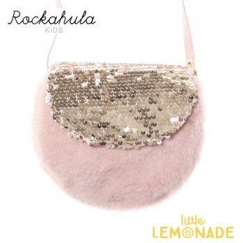 【Rockahula Kids】Shimmer Sequin Fur Bag-Dusky Pink/スパンコールのピンクファーバッグ(G1453P)