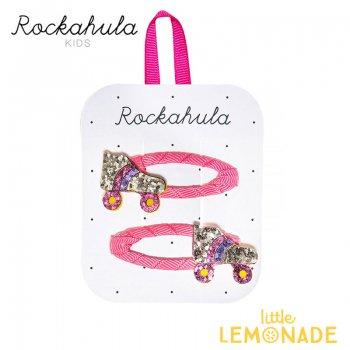 【Rockahula Kids】Roller Disco Clips-Multi/グリッターローラースケートヘアクリップ 2個セット(H1408M)