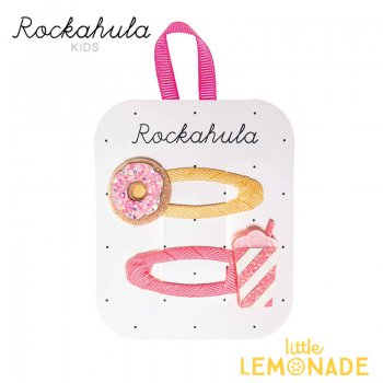 【Rockahula Kids】Donut And Shake Clips-Multi/ドーナツ&シェイクヘアクリップ 2個セット(H1411M)