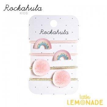 【Rockahula Kids】Dreamy Rainbow Ponies-Multi/レインボーヘアゴム 4個セット(H1414M)