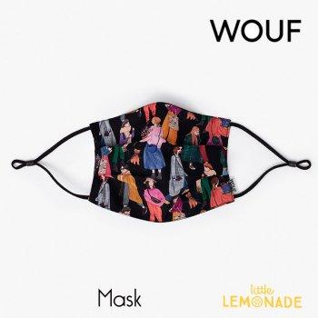 【WOUF】 フェイスマスク/ガールズ 【Girls Mask】 大人用 布マスク 再利用マスク おしゃれ リトルレモネード (FM200010)