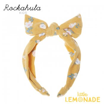 【Rockahula Kids】Florence Tie Head Band-Heather/花柄イエローリボンヘアバンド(H1425O)