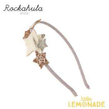 【Rockahula Kids】Star Burst Head Band-Gold/グリッター&ゴールドスターカチューシャ(H1434G)
