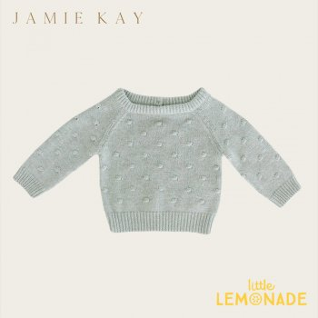 【Jamie Kay】 DOTTY KNIT - SEABREEZE【6-12か月/1歳/2歳/3歳/4歳】 ドットニット  ニット セーター トップス ジェイミーケイ 女の子 男の子