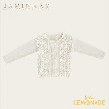 【Jamie Kay】 ELLERY CARDIGAN - SNOW 【6-12か月/1歳/2歳/3歳】カーディガン  ニット セーター トップス ジェイミーケイ
