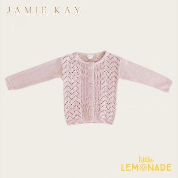 【Jamie Kay】 ELLERY CARDIGAN - OLD ROSE【1歳/2歳/3歳】 カーディガン ニット セーター  トップス ジェイミーケイ