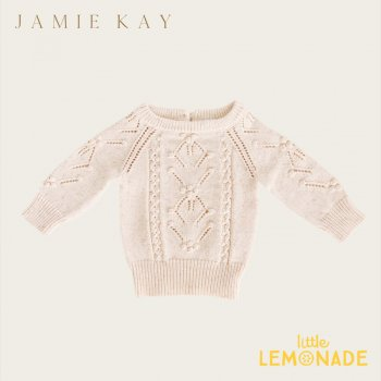 【Jamie Kay】 KATIE KNIT - APRICOT FLECK【6-12か月/1歳/2歳/3歳】 アプリコット ニット セーター トップス ジェイミーケイ
