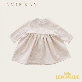 【Jamie Kay】 FLECK CHARLOTTE DRESS - PEACHY 【1歳/2歳/3歳】ワンピース ドレス トップス 長袖 ジェイミーケイ ニュージーランド 子供 女の子