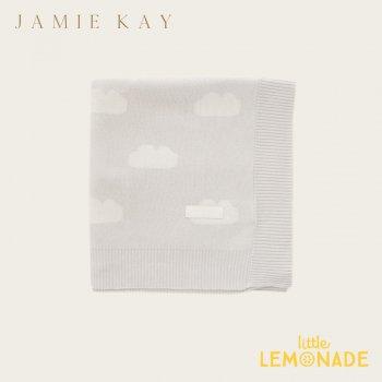 【Jamie Kay】 CLOUD COT BLANKET - SOFT GREY グレー クラウド 雲 ブランケット おくるみ ベビー用 お祝い ギフト 女の子 男の子 ジェイミーケイ