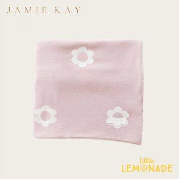 【Jamie Kay】 FLOWER COT BLANKET - OLD ROSE ピンク 花柄 ブランケット おくるみ ベビー用 お祝い ギフト 女の子 ジェイミーケイ