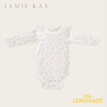 【Jamie Kay】 FRILL BODYSUIT - PRIMROSE FLORAL【3-6か月/6-12か月/1歳】ロンパース ボディスーツ ベビー服 トップス フリル 花柄  ジェイミーケイ