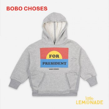 【BOBO CHOSES】 For President Hoodie【4-5Y/6-7Y/8-9Y】 121AC044 長袖 フード付 スウェット ボボショーズ アパレル 21SS YKZ