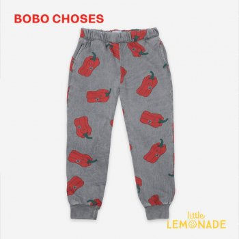 <img class='new_mark_img1' src='https://img.shop-pro.jp/img/new/icons1.gif' style='border:none;display:inline;margin:0px;padding:0px;width:auto;' />【BOBO CHOSES】 Vote For Pepper All Over Jogging Pants【2-3Y/4-5Y】 121AC055 ズボン パンツ ボボショーズ 21SS YKZ
