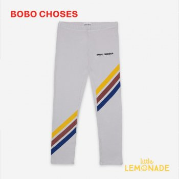 <img class='new_mark_img1' src='https://img.shop-pro.jp/img/new/icons1.gif' style='border:none;display:inline;margin:0px;padding:0px;width:auto;' />【BOBO CHOSES】 Crosswise Stripes Grey Leggings【2-3Y/4-5Y】 121AC049 レギンス ボボショーズ アパレル 21SS YKZ