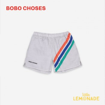 <img class='new_mark_img1' src='https://img.shop-pro.jp/img/new/icons1.gif' style='border:none;display:inline;margin:0px;padding:0px;width:auto;' />【BOBO CHOSES】 Crosswise Stripes Woven Shorts【4-5Y/6-7Y/8-9Y】 121AC072 ショートパンツ ボボショーズ アパレル 21SS YKZ