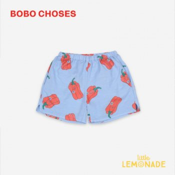 <img class='new_mark_img1' src='https://img.shop-pro.jp/img/new/icons1.gif' style='border:none;display:inline;margin:0px;padding:0px;width:auto;' />【BOBO CHOSES】 Vote For Pepper All Over Woven Shorts【2-3Y/4-5Y/6-7Y】   121AC074  ボボショーズ アパレル 21SS YKZ
