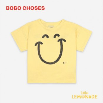 【BOBO CHOSES】 Big Smile Short Sleeve T-Shirt【4-5Y/6-7Y/8-9Y】  121AC001  Tシャツ ボボショーズ アパレル 21SS