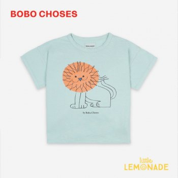 【BOBO CHOSES】 Pet A Lion Short Sleeve T-Shirt【4-5Y/6-7Y/8-9Y】 121AC002 Tシャツ ボボショーズ アパレル 21SS