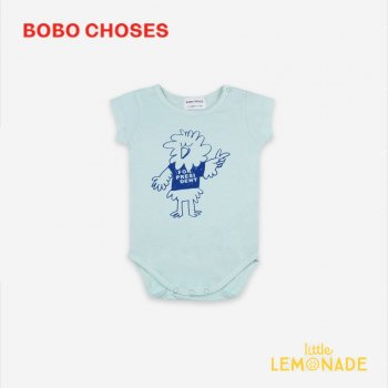 <img class='new_mark_img1' src='https://img.shop-pro.jp/img/new/icons1.gif' style='border:none;display:inline;margin:0px;padding:0px;width:auto;' />【BOBO CHOSES】 Bird Says Yes Short Sleeve Body 【6-12M/12-18M】 121AB018 ロンパース ボボショーズ アパレル 21SS YKZ