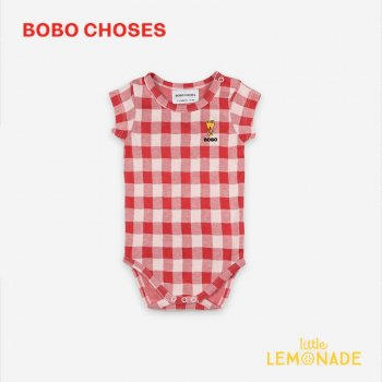 【BOBO CHOSES】 Vichy Short Sleeve Body 【6-12M/12-18M】 121AB021 ロンパース ボボショーズ アパレル 21SS YKZ