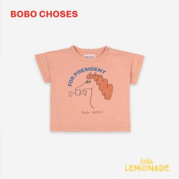 <img class='new_mark_img1' src='https://img.shop-pro.jp/img/new/icons1.gif' style='border:none;display:inline;margin:0px;padding:0px;width:auto;' />【BOBO CHOSES】 Fetching Horse Short Sleeve T-shirt 【12-18M/18-24M/24-36M】121AB001 ボボショーズ 21SS YKZ