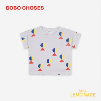 <img class='new_mark_img1' src='https://img.shop-pro.jp/img/new/icons1.gif' style='border:none;display:inline;margin:0px;padding:0px;width:auto;' />【BOBO CHOSES】 Geometric All Over Short Sleeve T-shirt 【12-18M/18-24M/24-36M】 121AB008 Tシャツ 21SS YKZ