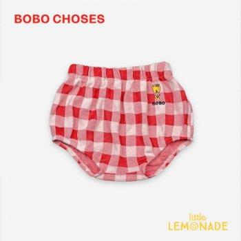 【BOBO CHOSES】 Vichy Culotte【6-12M/12-18M/18-24M】121AB046  ブルマ おむつカバー ボボショーズ  アパレル 21SS YKZ