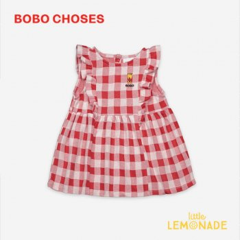 【BOBO CHOSES】 Vichy All Over Jersey Ruffle Dress【6-12M/12-18M/18-24M】121AB073 ドレス ボボショーズ  21SS YKZ