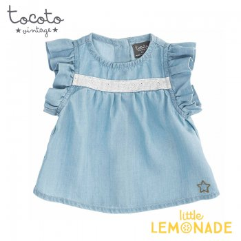 <img class='new_mark_img1' src='https://img.shop-pro.jp/img/new/icons1.gif' style='border:none;display:inline;margin:0px;padding:0px;width:auto;' />【Tocoto Vintage】 BABY TENCEL BLOUSE【12か月/2歳】ブラウス トップス トコトヴィンテージ (S90021)アパレル  21SS YKZ